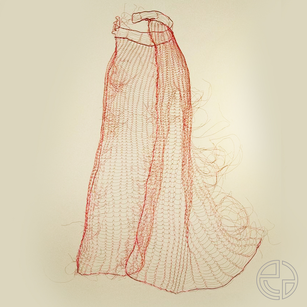 Saint Martin's Day exhibition - Cloak made of lackered copper wire.